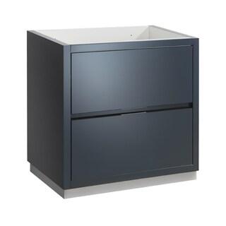 "Fresca Valencia 30"" Dark Slate Gray Free Standing Modern Bathroom Cabinet - Silver"