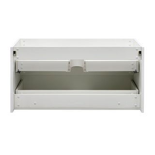 "Fresca Valencia 40"" Glossy White Wall Hung Modern Bathroom Cabinet"