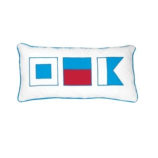 Nautical Flags 12 x 24 Decorative Throw Pillow