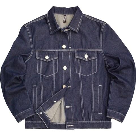 Mens Indigo denim jacket with stitching