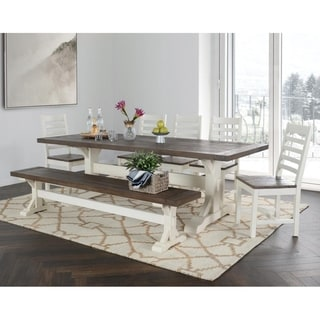 The Gray Barn Hive Coop Reclaimed Pine Two-tone Dining Table