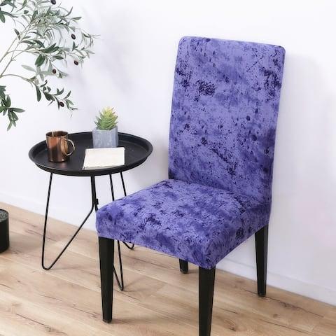 Enova Home Elegant Polyester and Spandex Stretch Washable Box Cushion Chair Slipcover