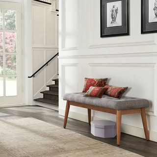 """Link to Landon Upholstered Bench In Acorn - 43.25 """"W x 16 """"D x 16.88 """"H Similar Items in Ottomans & Storage Ottomans"""
