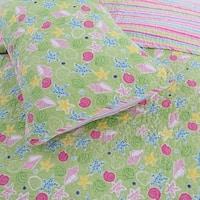 Cozy Line Danford 3-Piece Reversible Cotton Quilt Set - Green