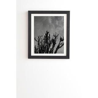 Deny Designs Cactus Sky Framed Wall Art (3 Frame Colors) - Grey/Black