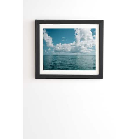 Deny Designs Hawaiian Sky Framed Wall Art (3 Frame Colors) - Blue