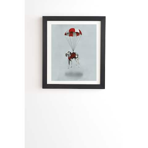 Deny Designs Flying Dalmatian Framed Wall Art (3 Frame Colors) - Grey