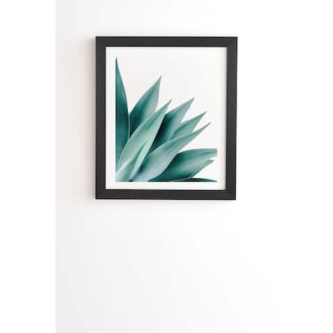 Deny Designs Agave Plant Framed Wall Art (3 Frame Colors) - Green/White