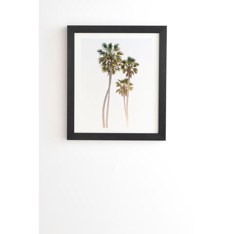 Deny Designs California Palms Framed Wall Art (3 Frame Colors) - Green/White