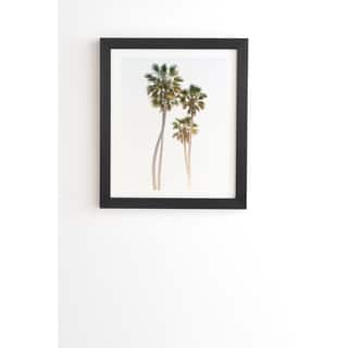 Deny Designs California Palms Framed Wall Art (3 Frame Colors) - Green/White