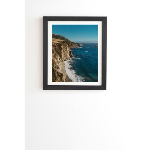 Deny Designs Big Sur Framed Wall Art (3 Frame Colors) - Blue