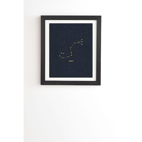 Deny Designs Constellation Aquarius Framed Wall Art (3 Frame Colors) - Blue