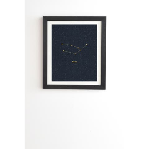 Deny Designs Constellation Taurus Framed Wall Art (3 Frame Colors) - Blue