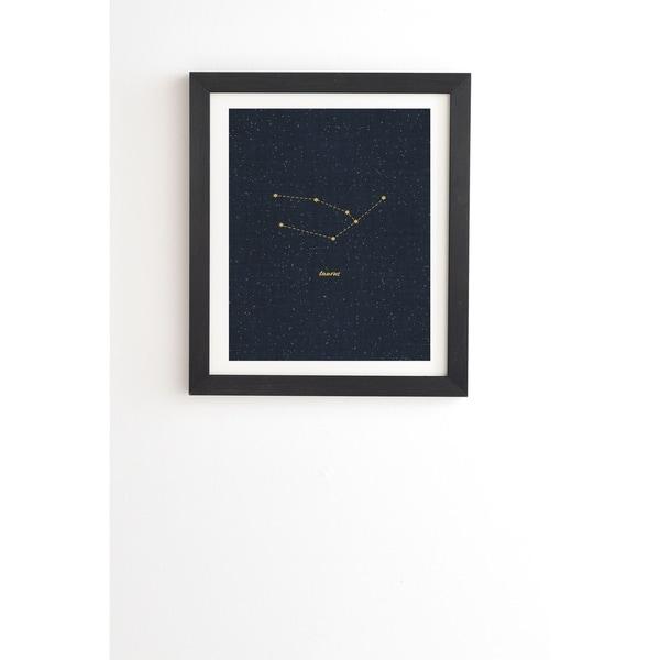 Deny Designs Constellation Taurus Framed Wall Art (3 Frame Colors) - Blue