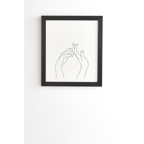 Deny Designs Hands Sketched Framed Wall Art (3 Frame Colors) - Black
