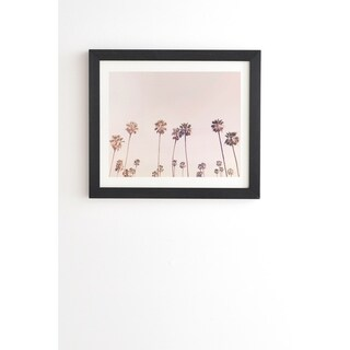Link to Deny Designs Pink Palm Trees Framed Wall Art (3 Frame Colors) Similar Items in Art Prints