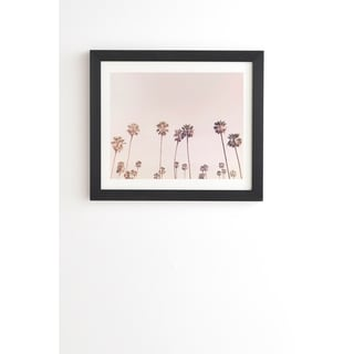 Deny Designs Pink Palm Trees Framed Wall Art (3 Frame Colors)