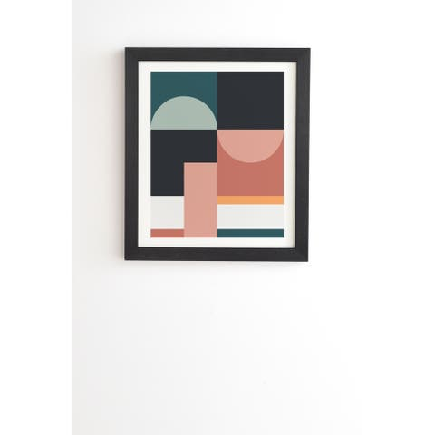 Deny Designs Abstract Geometric Framed Wall Art (3 Frame Colors) - Multi-Color
