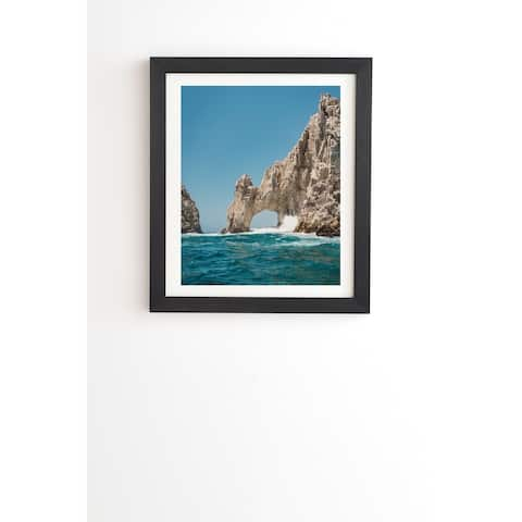 Deny Designs Cabo Sea Framed Wall Art (3 Frame Colors) - Blue