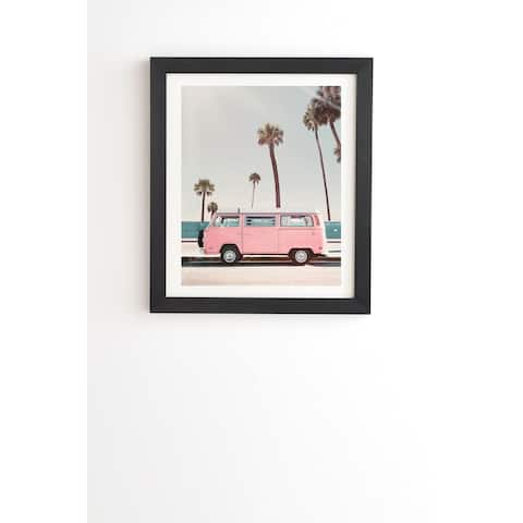 Deny Designs Pink Van Framed Wall Art (3 Frame Colors) - Blue