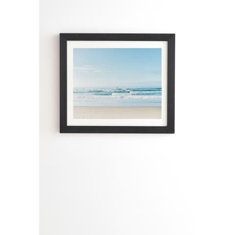 Deny Designs California Surfing Framed Wall Art (3 Frame Colors) - Blue