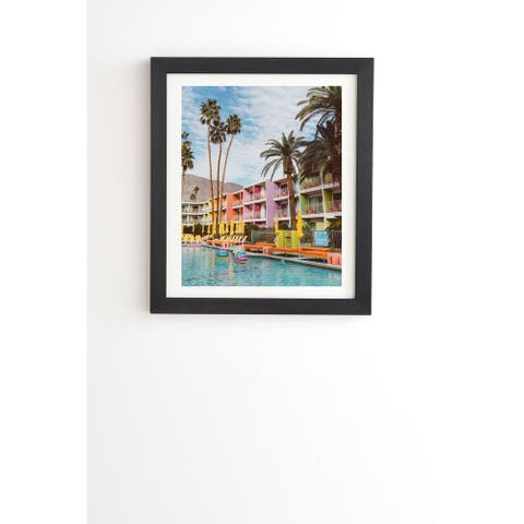 Deny Designs Pool Day Framed Wall Art (3 Frame Colors) - Multi-Color