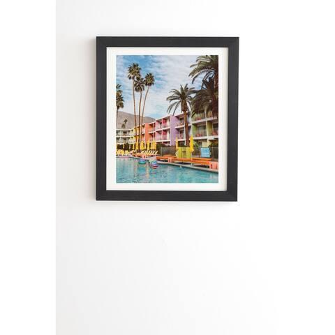 Deny Designs Pool Day Framed Wall Art (3 Frame Colors) - Multi-Color