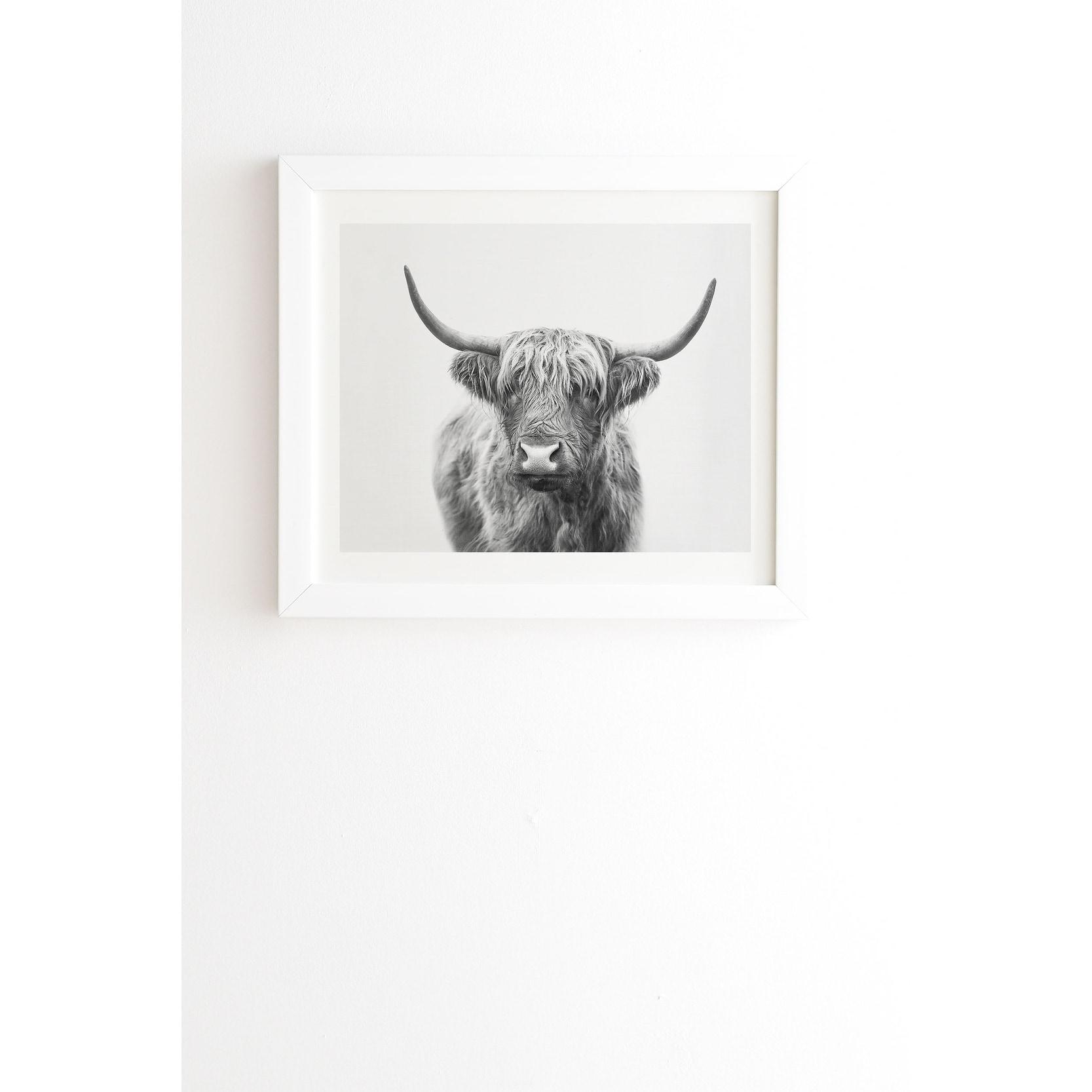 Deny Designs Highland Bull Framed Wall Art 3 Frame Colors Grey Overstock 27177518