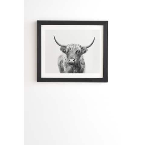 Deny Designs Highland Bull Framed Wall Art (3 Frame Colors) - Grey