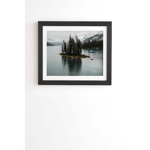 Deny Designs Foggy Lake Framed Wall Art (3 Frame Colors) - Blue