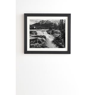 Deny Designs Waterfall Framed Wall Art (3 Frame Colors) - Black/White