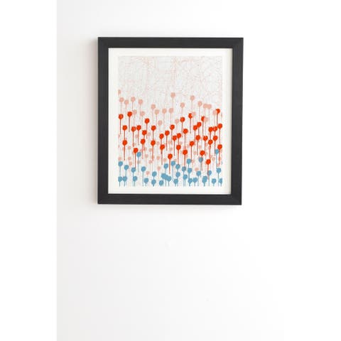 Deny Designs Abstract Summer Framed Wall Art (3 Frame Colors) - Blue