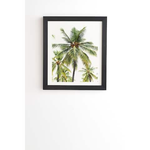 Deny Designs Coconut Palms Framed Wall Art (3 Frame Colors) - Green