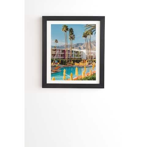 Deny Designs Palm Springs Pool Framed Wall Art (3 Frame Colors) - Blue