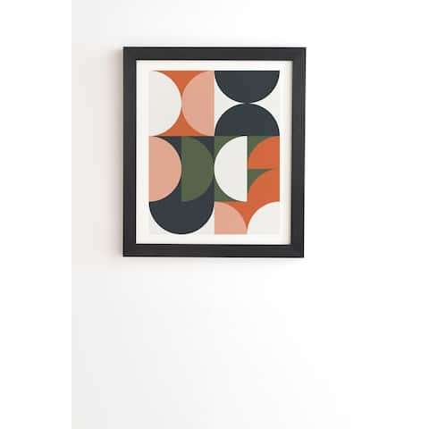 Deny Designs Mid Century Geometric Framed Wall Art (3 Frame Colors) - Multi-Color