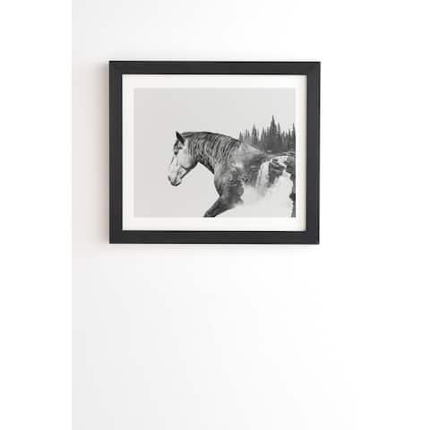 Deny Designs Horse Landscape Framed Wall Art (3 Frame Colors) - Black