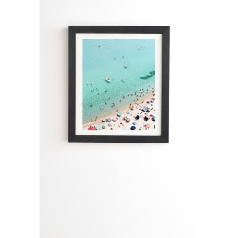 Deny Designs Beach People Framed Wall Art (3 Frame Colors) - Blue