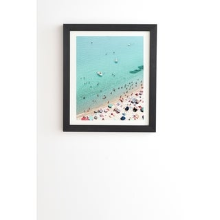 Link to Deny Designs Beach People Framed Wall Art (3 Frame Colors) - Blue Similar Items in Art Prints