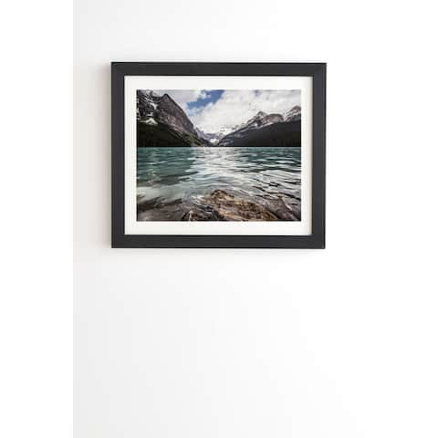 Deny Designs Mountain Lake Louise Framed Wall Art (3 Frame Colors) - Green