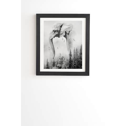 Deny Designs Elephant Landscape Framed Wall Art (3 Frame Colors) - Black/White