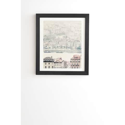 "Deny Designs ""Village on the River"" Framed Wall Art - Multi-Color"