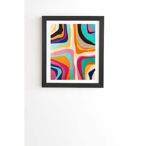 Deny Designs Psychedelic Abstract Framed Wall Art (3 Frame Colors) - Multi-Color
