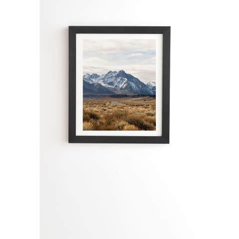 Deny Designs Mountain Travels Framed Wall Art (3 Frame Colors) - Blue