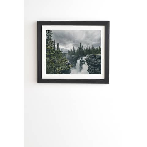 Deny Designs Athabasca Falls Framed Wall Art (3 Frame Colors) - Grey
