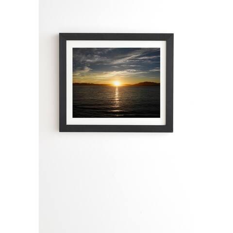 Deny Designs Ensenada Sunrise Framed Wall Art (3 Frame Colors) - Blue