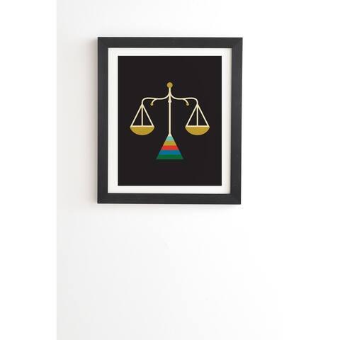 Deny Designs Zodiac Libra Framed Wall Art (3 Frame Colors) - Black