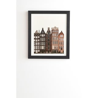 Link to Deny Designs Amsterdam Framed Wall Art (3 Frame Colors) - Brown Similar Items in Art Prints