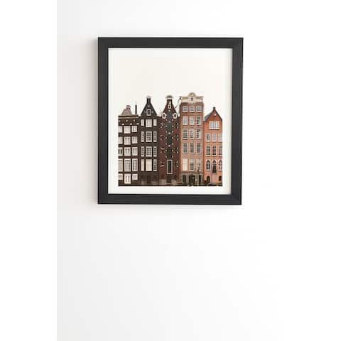 Deny Designs Amsterdam Framed Wall Art (3 Frame Colors) - Brown