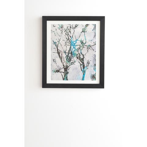Deny Designs Tree Paint Framed Wall Art (3 Frame Colors) - Grey