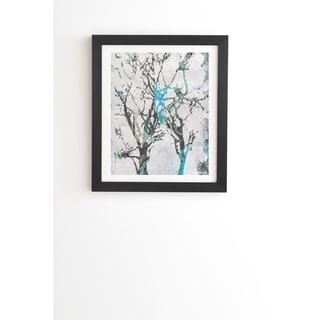 Deny Designs Tree Paint Framed Wall Art (3 Frame Colors) - Grey/Blue